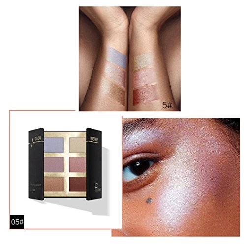 Price comparison product image Ourhomer Pudaier Waterproof Lasting Pressed Glow Highlight Contour Beauty Makeup Face Powder Shimmer Concealer Glow (E)