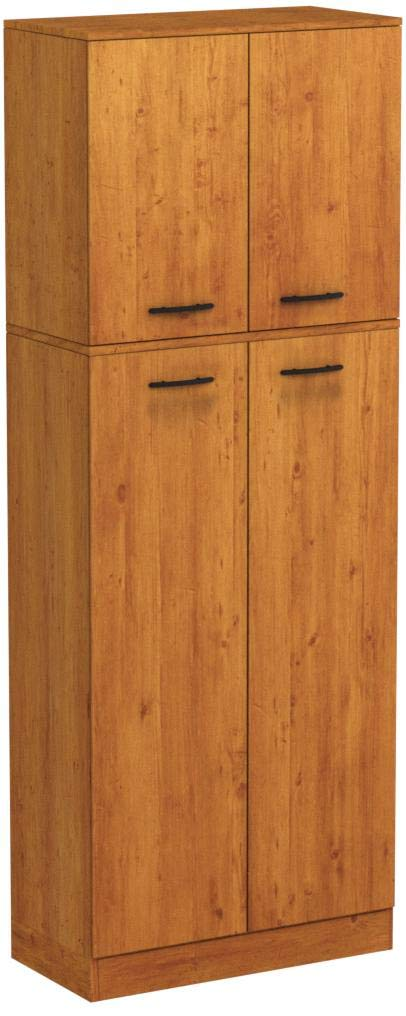 South Shore Smart Basics 4-Door Storage Pantry, Country Pine by South Shore