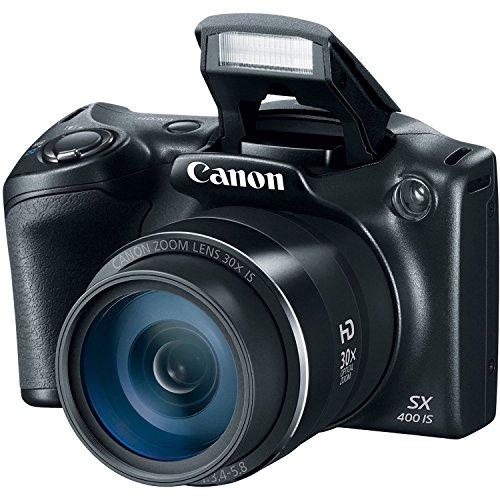 - Canon PowerShot SX400 Digital Camera 16.0 Megapixel sensor with 4x Digital and 30x Optical Zoom (24-720mm) and 24mm Wide-Angle lens(Renewed)