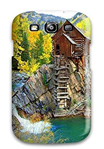 Best 3857145K16938269 Galaxy S3 Case Cover - Slim Fit Tpu Protector Shock Absorbent Case (waterfall)