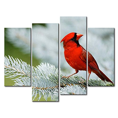 So Crazy Art Black & White And Red 4 Panel Wall Art Painting