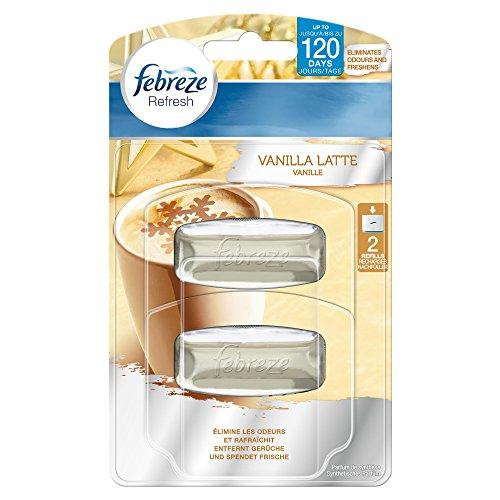 Febreze Set und Refresh Lufterfrischer Vanille, Nachfüllpackung, 2er Pack (2 x 2 Stück)