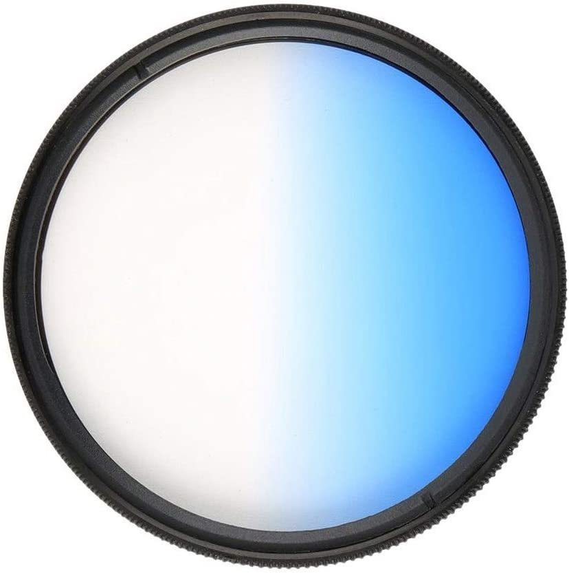 Market/&YCY Blue Gradient Filter for Canon Nikon Sony All Brands of 58mm Digital SLR Camera Lens