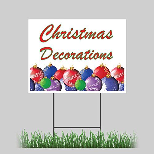 """12""""x18"""" Blow-Up Christmas Decorations Yard Sign with Stake Outdoor Coroplast"""