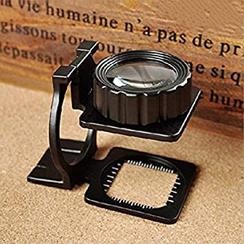 Buy 10x Folding Magnifier Loupe Full Metal Dual Lens Thread Counter Magnifier Cloth Test Linen Tester Black 10x Online At Low Prices In India Amazon In