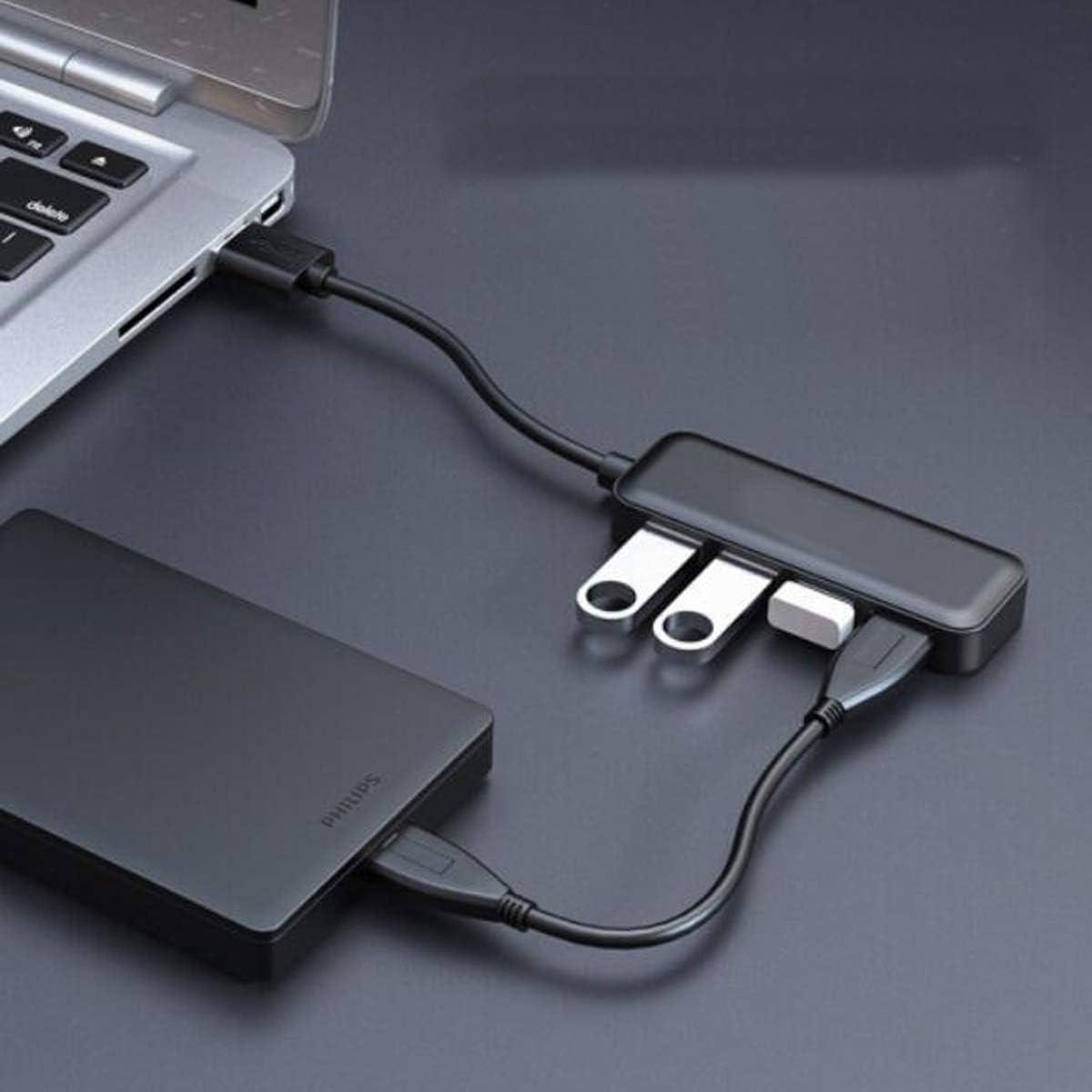 USB Splitter 3.0 High Speed Transmission Hub Hub Yougou Hub Color : Black, Size : 0.2 m Line Length 20 cm Solid