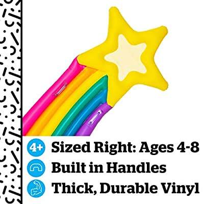 BigMouth Inc. Kiddo Float, Inflatable Shooting Star Pool Raft, Durable, and Safety-Tested Vinyl, Includes Patch Kit, 5' Long: Big Mouth Toys: Toys & Games
