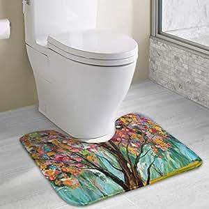 Amazon com: HACVREQ Personalized Toilet Carpet-Beautiful
