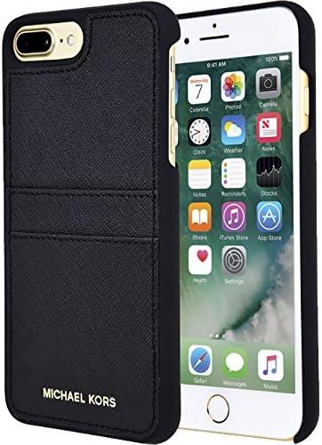 Michael Kors Saffiano Étui en cuir avec poches pour Apple iPhone 7 Plus 5.5 – Noir