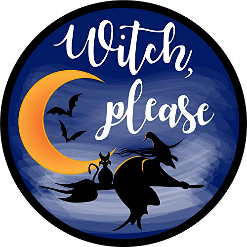 Witch Please Halloween Car Magnet Decoration Auto Decal, 5 3/4 Inches -