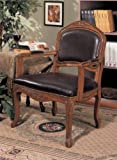 Cheap Accent Chair – Traditional Style Walnut Finish