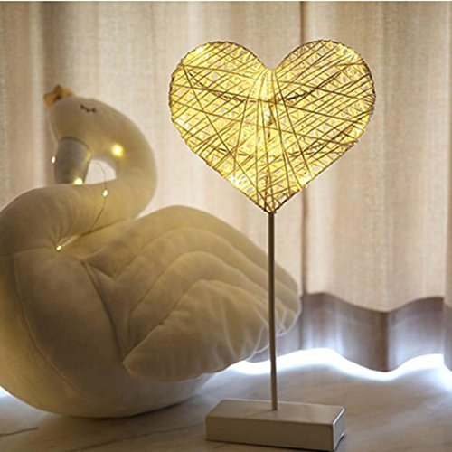 Adult Minion Costumes Diy - Kanzd Led Nightlight Heart Shape Stars Desk Lamp Rattan Lamp Party Wedding Decoration (A)