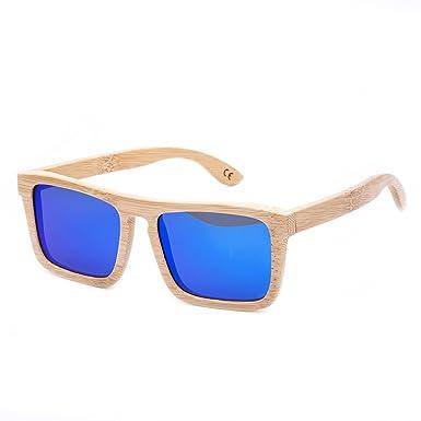 HABI Sonnenbrille & Etui UV400 schwarz Fassung Holz-Sonnenbrille 100% Bambus verschiedene Styles unisex (3) WGEzEft