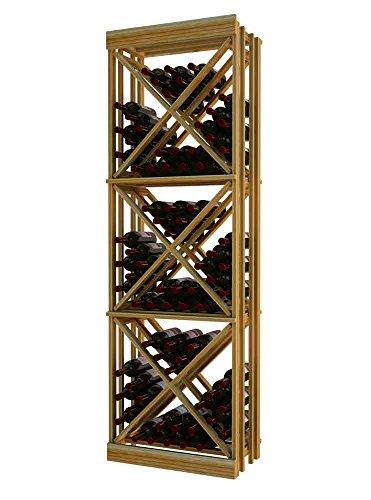 Wine Cellar Innovations DR-LI-ODC_LAQG1-A3 Designer Series Open Diamond Cube Wine Rack, Premium Redwood, With Lacquer Finish, Light ()