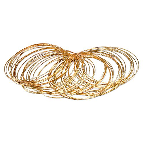 Bristol Novelty BA1002 Bracelet Bangle, Womens, Gold, One Size ()