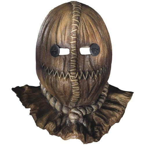 Trick 'R Treat TM Latex Mask with a burlap Look (Burlap Sack Mask)
