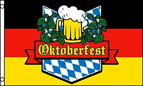 OKTOBERFEST FLAG, 3'x5' sign poster banner Bavaria, Germany (Bavaria Flag)