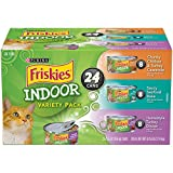 Purina Friskies Indoor Adult Wet Cat Food Variety Pack - Twenty-Four (24) 5.5 oz. Cans