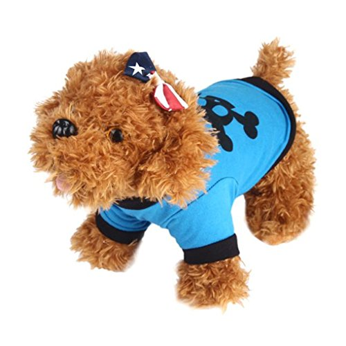 haoricu Puppy Clothes, Summer Cute Small Dog Pet Clothing Vest T-Shirts Apparel Dog Custome (M,