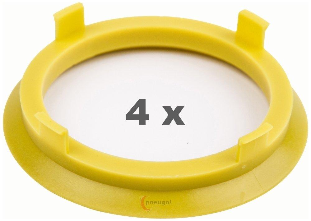 4/x Bague de Centrage 71.6/mm sur 60.1/mm Jaune//Yellow