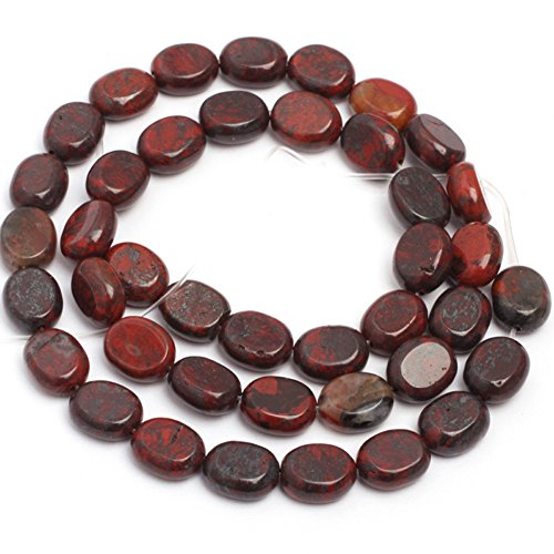 - JOE FOREMAN 8x10mm Mixed Red Jasper Semi Precious Gemstone Oval Loose Beads for Jewelry Making DIY Handmade Craft Supplies 15