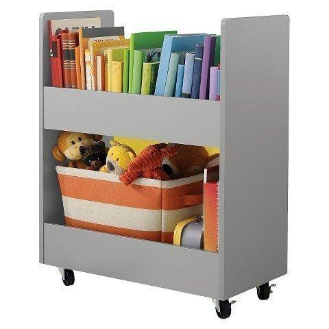 Circo Children's Toy Rolling Storage Organizer Cart with Paper Veneer - Grey (Stanton Classic Case)
