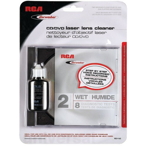 - Rcard1142 - Discwasher RD1142 Cd DVD Laser Lens Cleaners (2-Brush; Wet) (6543820690)