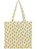 Women's Canvas Tote Shoulder Bag Stylish Shopping Casual Bag Foldaway Travel Bag (A-No closure-Pineapple)