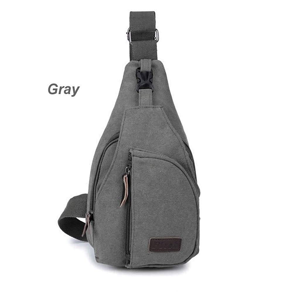 Flish Men Chest Canvas Bag for Riding/mountaineering/camping/ipad
