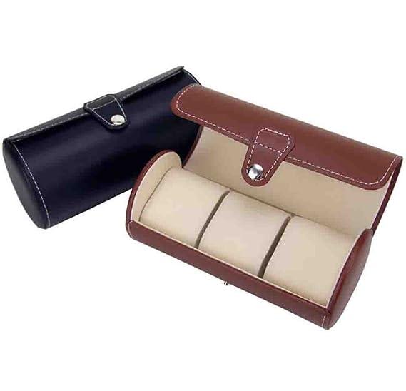Caja de reloj - Reloj de viaje de rollo de cuero de la PU Caja de