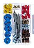 GripIt Starter Kit Drywall Anchor Plasterboard Fixings For Stud Walls - Max Load 113Kg (40 fixings, Drill Bits Included)