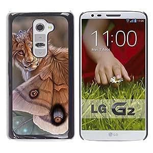 Ihec Tech León Mariposa Naturaleza Arte Biotecnología Ojos / Funda Case back Cover guard / for LG G2