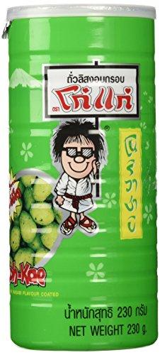 KOH KAE Peanuts Wasabi. Crackers, Peanuts, Nori, Wasabi Flavor 230 G / Cans Made in Thailand