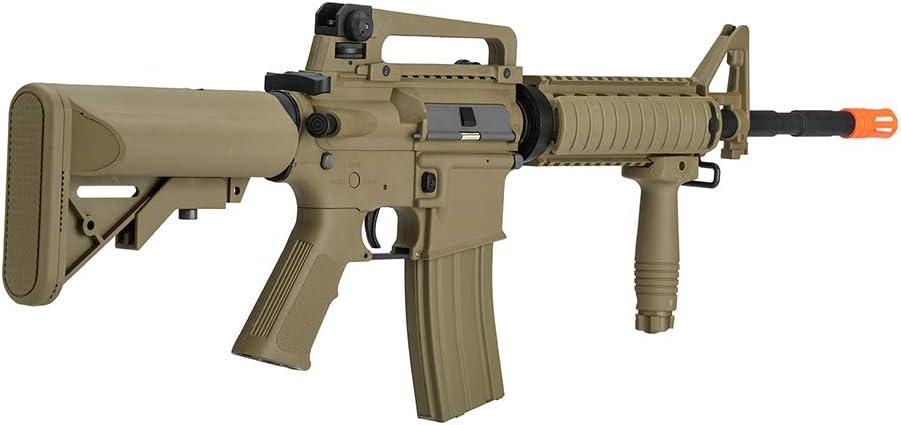 Lancer Tactical Gen 2 Upgraded RIS LT-04 AEG Metal Gear Electric Airsoft Gun, Dark Earth