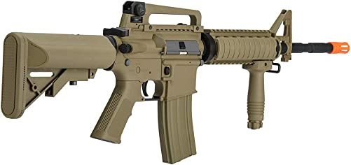 Lancer Tactical Gen 2 Upgraded RIS LT-04 AEG Metal Gear Electric Airsoft Gun, Dark Earth