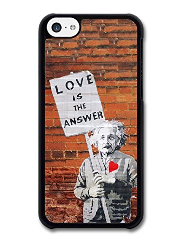 Love is the Answer Albert Einstein Wall Banksy Graffiti Quote coque pour iPhone 5C