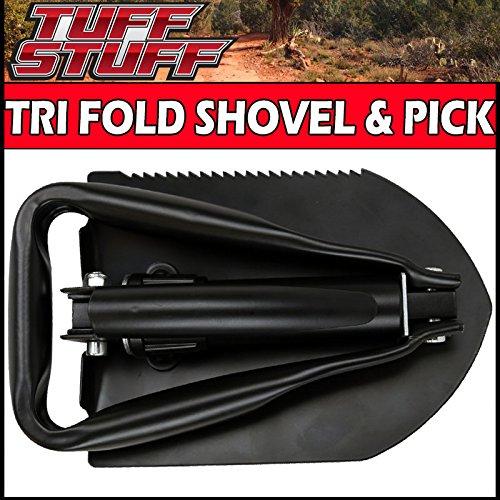 Tuff Stuff® Tri-fold Folding Utility Shovel, Saw & Pick W/ Storage Case - Tri Fold Camp Shovel