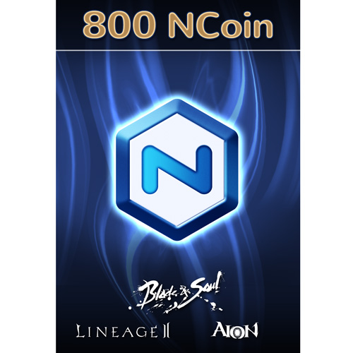 Software : NCSoft NCoin 800 Ncoin [Online Game Code]