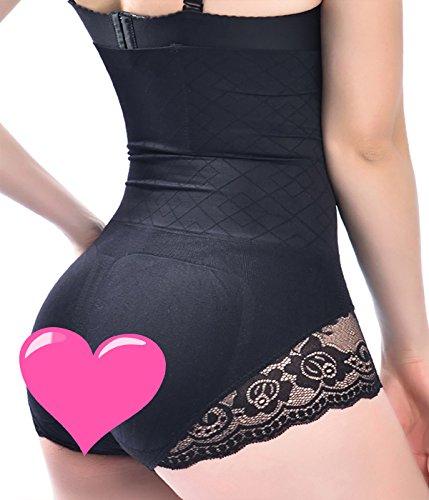 Women High Waist Tummy Control Underwear Body Shaper Panties Shapewear Thong Slimming Butt Tifter Girdle Waisted Briefs  Black  Xl Xxl