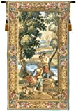 Tapestry, Extra Large, Tall - Elegant, Fine, French & Wall Hanging - Les Sonneurs Du Roi - Les Tambours (Right Panel), B-H70xW36