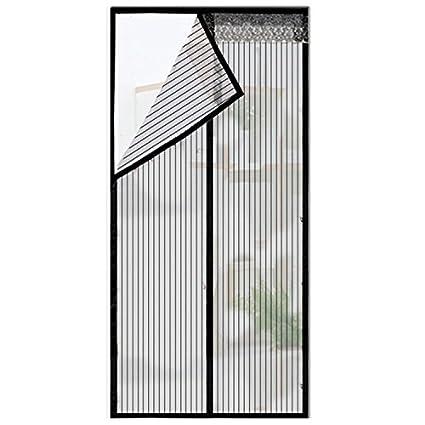 Magnetic Screen Door   Mesh Door Screen With Magnets Full Frame Velcro Fits  Door Size Up