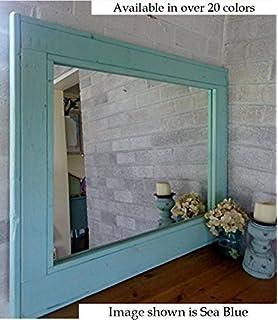 renewed dcor herringbone reclaimed wood mirror in 20 colors large wall mirror rustic modern
