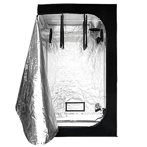 "51OV8C0%2BTfL - LAGarden 48x48x78"" Hydroponics Grow Tent 100% Reflective Diamond Mylar Indoor Plant Growing Non Toxic Room w/ Window"