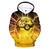 Oxking Unisex 3D Digital Print Pullover Hoodies Hooded Sweatshirts