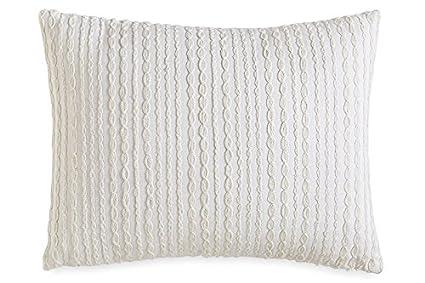 Amazon DKNY City Pleat White Embroidered Decorative Pillow Gorgeous Dkny Decorative Pillows