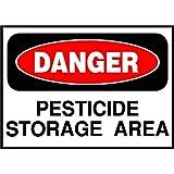 Pesticide Storage Area Danger OSHA/ANSI Label Decal Sticker 10 inches x 14 inches