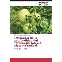 Influencia de la profundidad del fertirriego sobre el sistema radical: Cultivo de tomate (Spanish Edition)