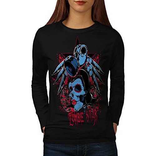 Evil Zombie Star Rise Women NEW S Long Sleeve T-shirt | Wellcoda (Love Bite Vampire Costume)