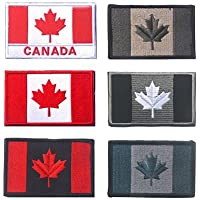 Canada Flag Tactical Patch, TOWEE 6 Pack Canadan Flag Patches Tactical Tags Patch Military Patch Embroidered Border…
