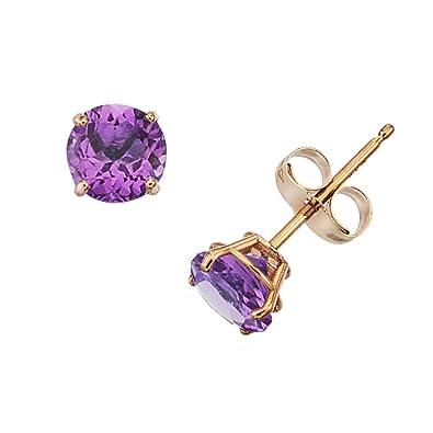f5eaddf43 Amazon.com: 14k Gold Genuine .50ct TW Amethyst February Birthstone ...